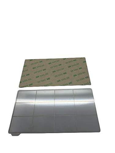 3DPLady – Lamiera magnetica flessibile in acciaio per stampante 3D compatibile con Elegoo Mars/Mars Pro/Wanhao D7 (135 x 75 mm)