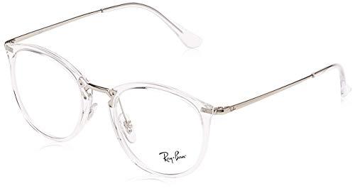 Ray-Ban Unisex-Erwachsene 0RX 7140 2001 51 Brillengestelle, Transparent