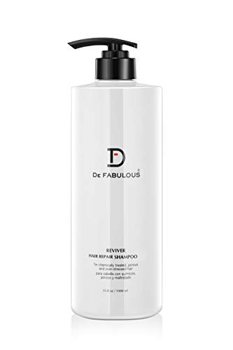 De Fabulous Shampoo and Conditioner Reviver Hair Repair Set 33oz Sulfate Free for Keratin Treatment