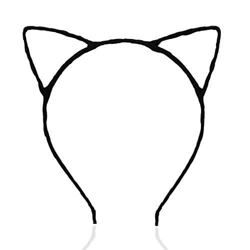 FAD Tocado Ruimio Lindo Disfraz Fiesta de disfraces Orejas de gato Turbante Diadema Mujer Diadema con cable Chica Cabello Moda Diadema Top Nudo Diadema