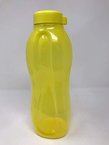 Tupperware to Go Eco - Botella de 1,5 L con tapón de rosca para bebidas con gas, color amarillo y verde