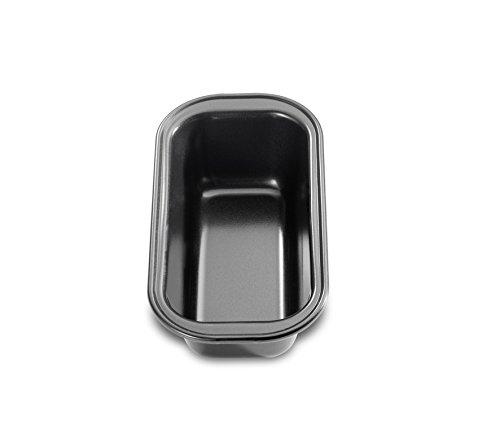 Küchenprofi Bake One Mini 15cm Kastenform, hochwertiges Stahlblech, schwarz, 15 x 8 x 5.5 cm, 6-Einheiten