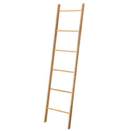 Toallero Escalera nórdico marrón de bambú para Cuarto de baño Basic - LOLAhome