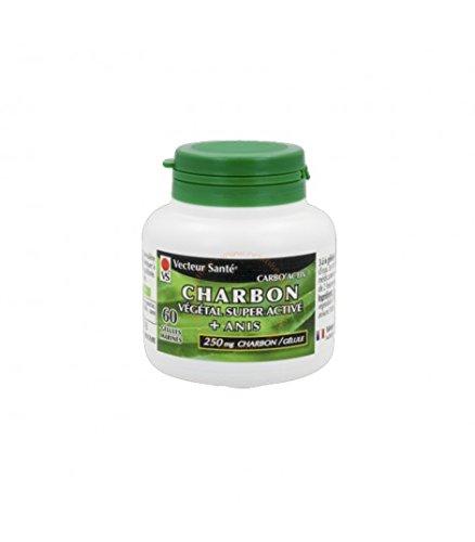 Carbón vegetal super activo + anís Bio 60 cápsulas