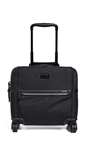 TUMI - Alpha 3 Carry-On 4 Wheeled Laptop Compact Brief Briefcase - 15 Inch Computer Case for Men and Women - Black