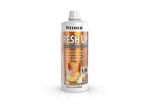 Weider Fresh Up Getränkekonzentrat, Eistee Pfirsich, zuckerfrei mit Vitaminen und Mineralstoffen, 1 Liter