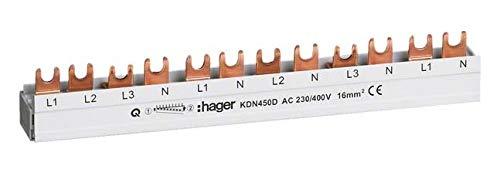 Hager Phasenschiene KDN450D 3P,+N 80A 16qmm 12M Phasenschiene 3250613741075