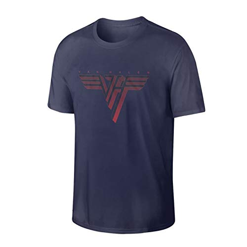 Van Halen Faded Vintage Logo T-shirt for Men, Navy Blue, S to 3XL