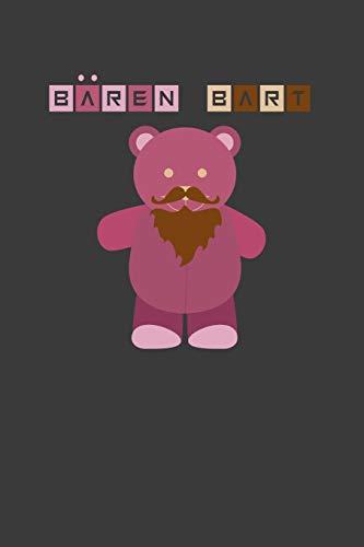 Bärenbart: Teddy Liniertes DinA 5 Notizbuch für Bart-Fans Bärtige Bart-liebhaber Schnurrbart Bart Notizheft