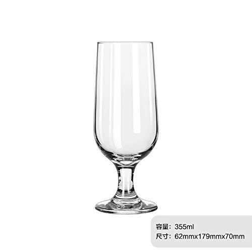 VYEKL Hochfüßiges Glasglas multifunktionale Saft Tasse Bier Tasse hitzebeständige Teetasse 355ML 2 Packungen