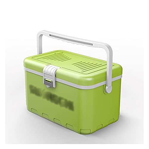 DAGCOT Caja de Aparejos de Pesca Mini Espesado Mantenga el Hielo Fresco Fresco Caja de Enfriador para camarón de Pescado Vivo Cubo de Pesca portátil Ligero 10L (Color : Green)