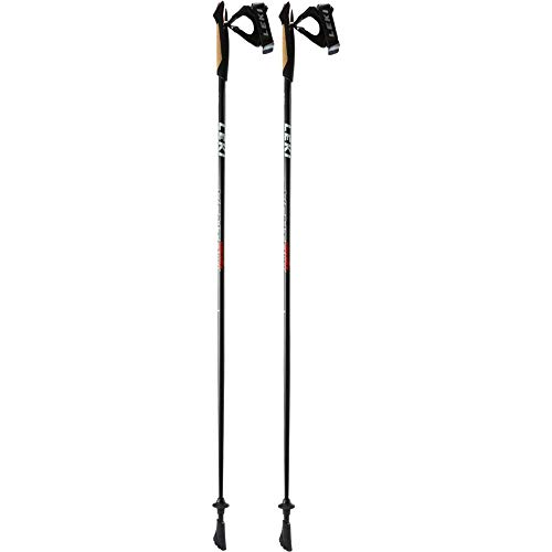 LEKI Unisex – Erwachsene Ventrix Shark Nordic Walking Stöcke, White-Red, 120