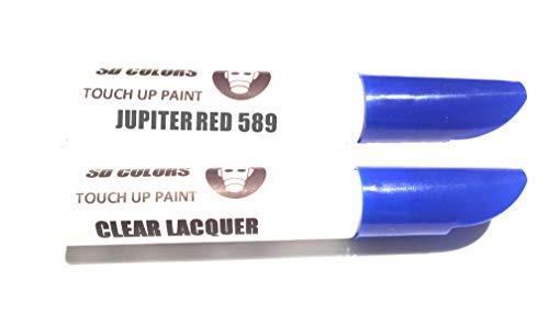 SD COLORS Jupiter Red 589 - Kit de reparación de bolígrafos de retoque (12 ml), Color Rojo