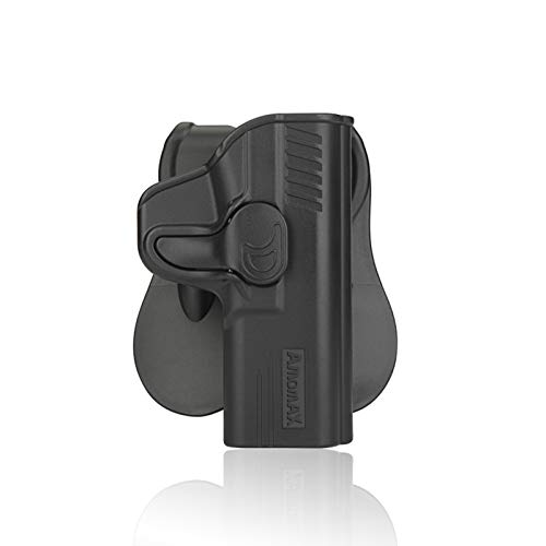 GX Level II OWB Holster for MP Shield 40 31 9mm 31Outside Polymer Tactical Outside Waistband Carry Holster with PaddleBlackRight hand