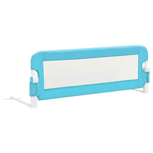 Barandilla de La Cama Guardia de Seguridad para Niños, Barandilla Plegable de La Cama Infantil (Azul,120 x 40,5 x 42cm)