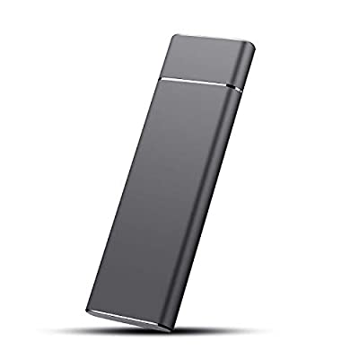 External Hard Drive, Hard Drive 1TB 2TBPortable Slim External Hard Dive Data Storage Compatible with PC, Desktop, Laptop, Mac (1TB, Black)
