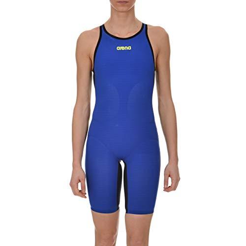 ARENA Damen Powerskin Carbon Air Swim Suit-Open Back Badeanzug, Electric Blue/Titanium Blue, 30