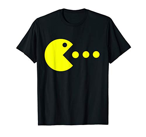 Pac-Man Chomping T-shirt for Adults or Kids, Choice of Colors