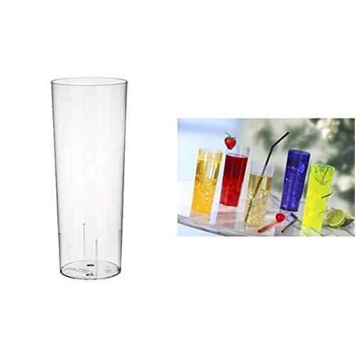10 Gläser für Longdrinks, PS 0,3 l Ø 5,85 cm · 15,2 cm glasklar Plastik
