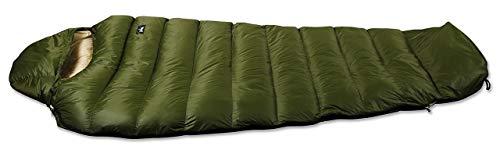 ナンガ シュラフ 寝袋 ダウンバッグ ロング 350STD(OLBE オリーブxベージュ)