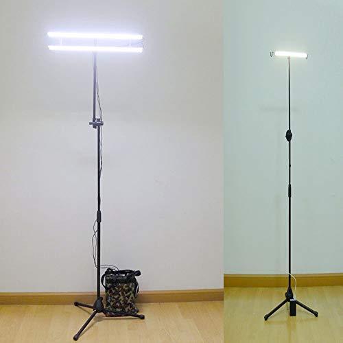 QSBY Stehen LED-Licht Ultra Light Folding Lifting Typ Glühlampe im Freien Multi-Purpose-Stativ-Taschenlampe geeignet für Selbstfahr Camping Barbecue 9W,Long Light 9w
