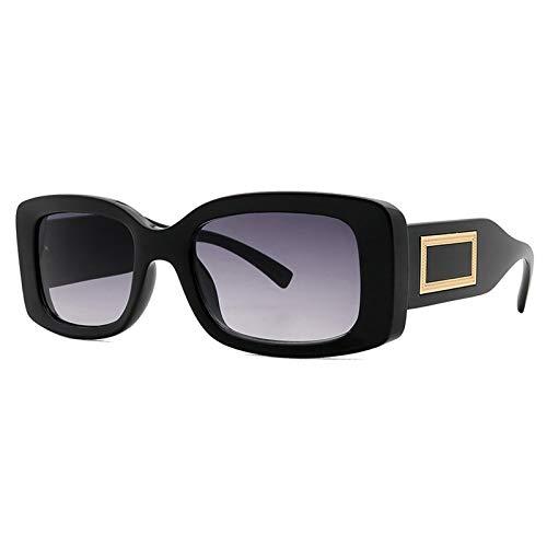 SHEEN KELLY Gafas de sol cuadradas retro para hombres y mujeres Gafas de sol de montura grande vintage Gafas de sol de conducción Gafas UV400