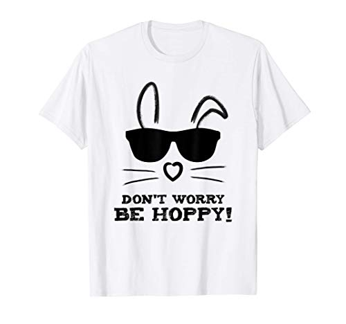 Conejito con gafas Conejo de Pascua Orejas de conejo Camiseta