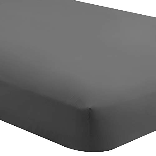 Bare Home Fitted Bottom Sheet Twin Extra Long - Premium 1800 Ultra-Soft Wrinkle Resistant Microfiber - Hypoallergenic - Deep Pocket (Twin XL, Grey)