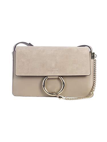 Chloé Luxury Fashion Damen CHC15US127H2O23W Grau Leder Schultertasche   Jahreszeit Outlet