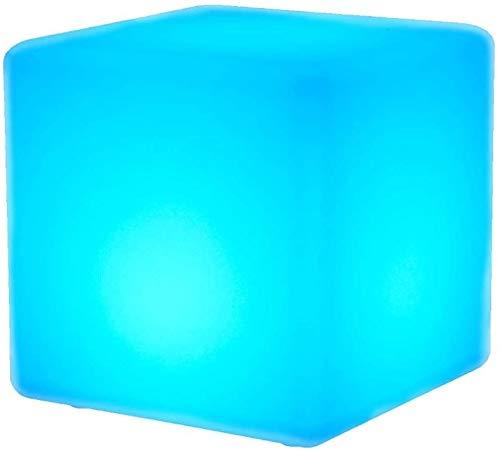 Ygetas LED Cube Hocker Stehlampe Wasserdicht IP65 outdoot Garten Dekoration Fernbedienung Mood Light Stuhl Farbwechsel 16 Dimmbare Farben & 4 Modi Stimmungs-Lampen-Licht Stuhl ( Größe : 50*50*50cm )