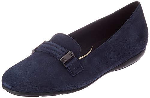 Geox Damen D ANNYTAH A Loafer Flat, Navy, 37.5 EU