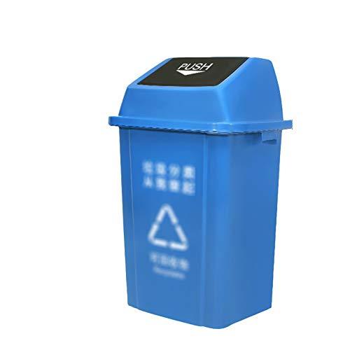 Outdoor trash can Chang-S-Q-123 Papelera De Reciclaje De Basura Al Aire Libre 100L, con Tapa De Plástico De Limpieza De Basura Patio Factory Factory School Basura Box(Size:100L,Color:Azul)