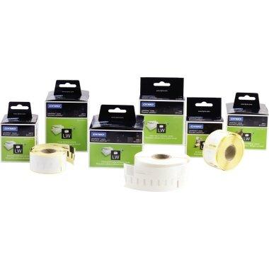 Dymo® Thermoetikett für Etikettendrucker Ordneretikett schmal, 190 x 38 mm, w, 110 St.