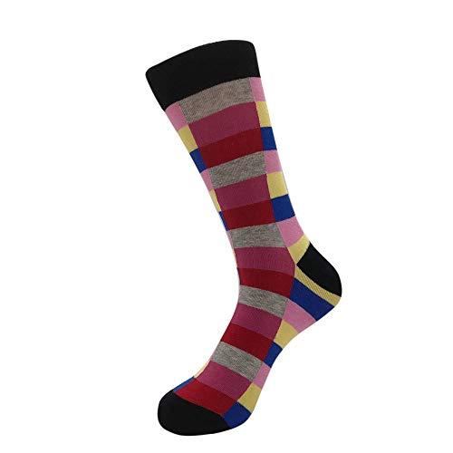 ZZBO Lange Socken Lustige Witzige Frotteesocken Unisex Mann Frau Baumwollsocken Strümpfe Gemusterte Baumwolle Socken Melange Gesreift Kariert Gepunktet Mehrfarbig Bunt