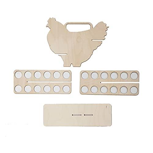 Estante de almacenamiento de huevos automático con desplazamiento automático, portátil, para cocina, almacenamiento de huevos, estante organizador, de madera, para el hogar
