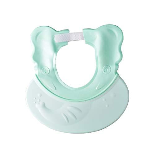 Bébé Shampooing Cap Shampoing pour Enfants Capuchons imperméables à l'eau Bébé Enfant Bonnet de Douche de Bain Matière réglable en Silicone réglable (Couleur : Green)