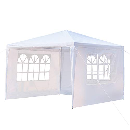 """Canopy Tent, 3M X 3M / 118"""" X 118"""", Waterproof, for Garden, Backyard, Outside, Camping(3 Side Wall)(US Stock)"""