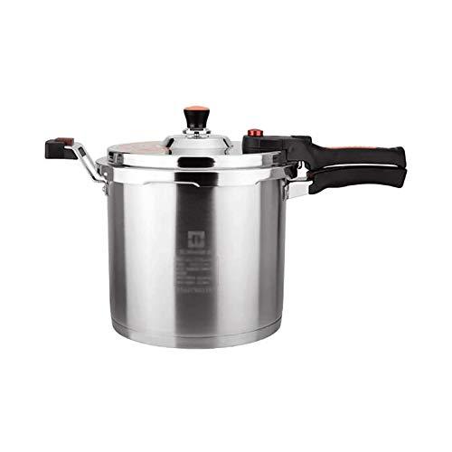 HDCDKKOU Cocina de presión de acero inoxidable 304, diseño de cuerpo de la válvula en forma de T, olla de sopa a prueba de explosiones de gran capacidad, protección de seguridad múltiple, olla de cocc