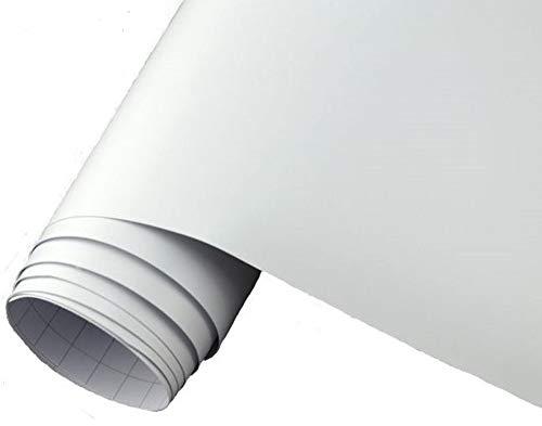 Neoxxim 24,22€/m2 Premium - Auto Folie - MATT - Weiss - Weiss MATT 30 x 150 cm - blasenfrei mit Luftkanälen ca 0,15mm dick für Auto Folierung folieren bekleben