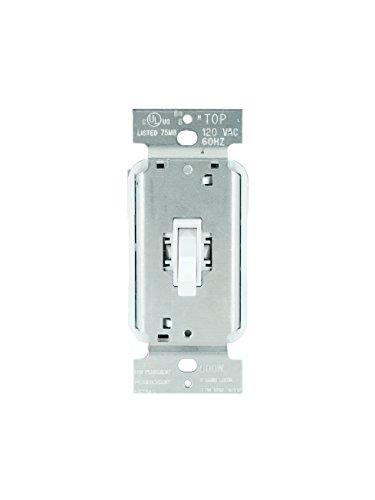 Pass & Seymour T600WV Legrand - Toggle Dimmer Light Switch 600W Single Pole, White