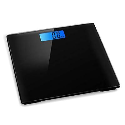Digital Electronic Bathroom Scale Bath Scales 180KG Backlit Weight Management (Black)