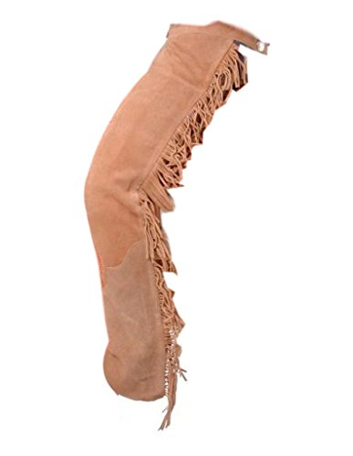 Tough-1 Suede Leather Western Show Chaps Medium Sa
