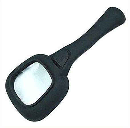 Ccgdgft Handvergrootglas 3 x met 5 LED's, wit licht en geld, LED-lichtdetector