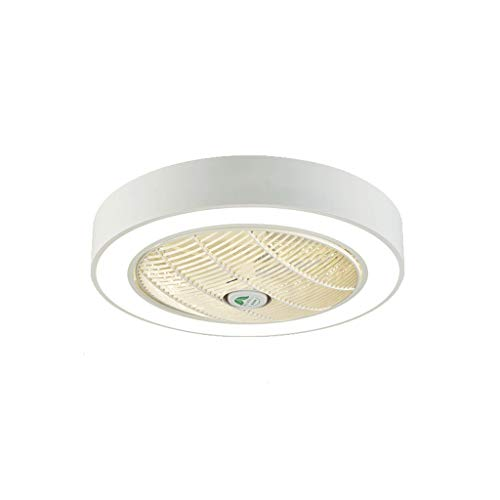 TONG Luz de Ventilador Luz de Techo LED Hogar Luz de Techo Invisible Ventilador de Techo Ventilador Integrado Ventilador Personalidad (Color : White)