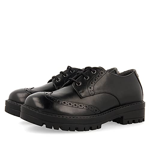 Zapato colegial Negro para niña KASTAV