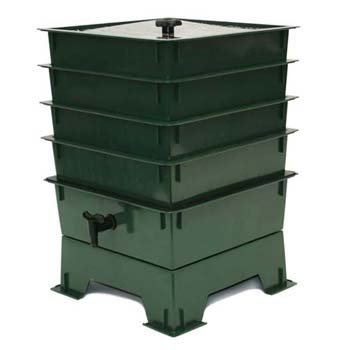 : Worm Factory DS4GT 4-Tray Worm Composter, Green