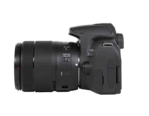 Canon EOS 850D DSLR Digitalkamera Gehäuse - mit Objektiv EF-S 18-135mm F3.5-5.6 IS USM (24,1 MP, 7,5 cm (3 Zoll) Display, APS-C Sensor, 45 AF-Kreuzsensoren, 4K, DIGIC 8, WLAN, Bluetooth) schwarz