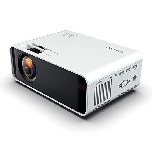 LITINGT Proyector, Proyector Inteligente de Alta definición para el hogar 1080P, Compatible con computadora TV