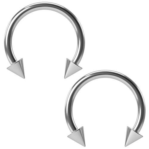 Barbell Hufeisen-Piercing, 16 g, 1,2 mm, rund, 10 mm, 2 Stück
