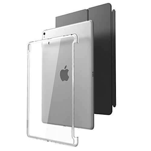 i-Blason Case for iPad Pro 10.5' (2017 Release) and iPad Air 3 10.5' 2019 (3rd Generation), [Compatible with Official Smart Cover and Smart Keyboard] Clear Hybrid Cover [Updated Version] (Clear)